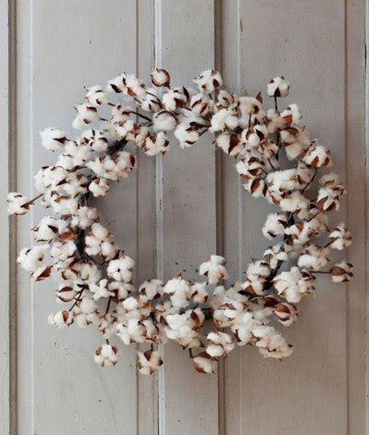 Nothing says farmhouse hospitality more than a cotton wreath. Display this wreath inside a frame, over a mirror or piece of architecture. Welcome guests by hanging it on your front door! - APPROXIMATE