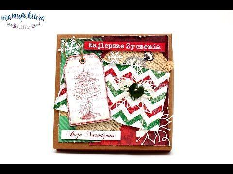 Pudełko do kartki na Boże Narodzenie – Manufaktura Justyny – artykuły do rękodzieła i ozdoby hand made