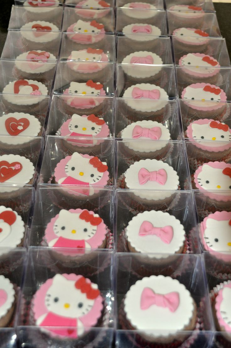 Hello Kitty Cupcakes Individually Packaged