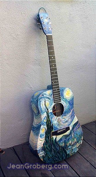 Van Gogh guitar. Pinning because of the obvious WHO link, no matter how slight. :D