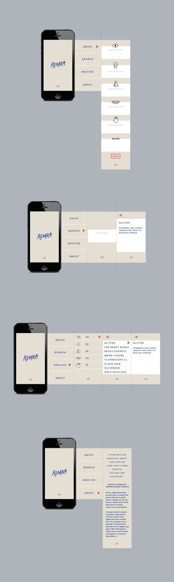 UI design for Remra App.