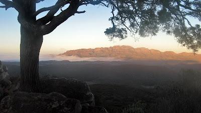 Sunrise from Bridle Gap with Elder Range, Northern Guidebook map 5.8