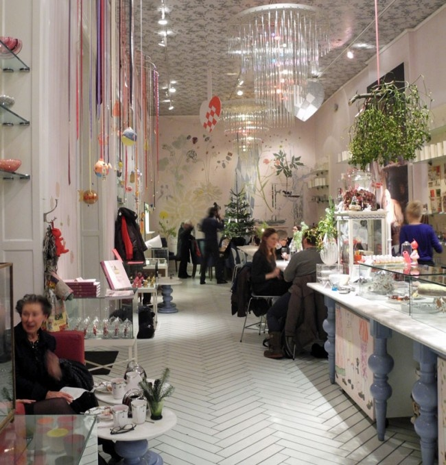 "cafe | ""the royal cafe"" | copenhagen chevron| hanging trinkets"