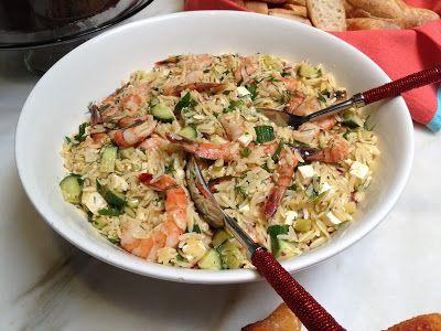 c h e w i n g t h e f a t two salads adapted from ina garten roasted shrimp and orzo and beets with - Ina Garten Shrimp Salad Recipe