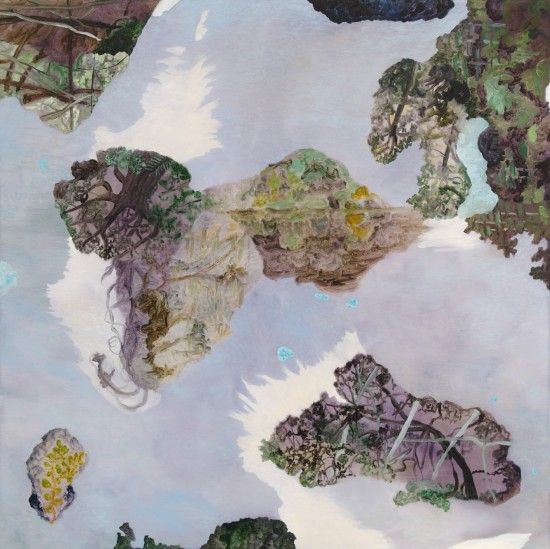 Anna Miles Gallery | Barbara Tuck | Dark Falcon you do Return, 2007 from Calibrating the loss of Sparrow Hawk.  Oil on board, 800 x 800 mm