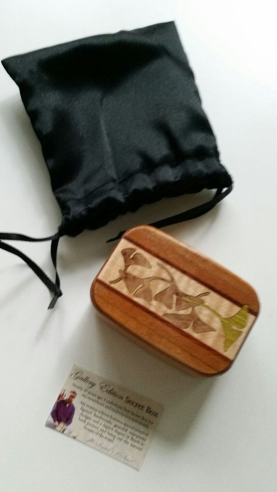 Wooden Gallery Ed. Secret Box Michael Fisher Heartwood Tiny Trinket Handcarved #MichaelFIsherHeartwoodBox
