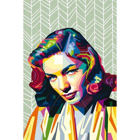 Framed art tribute to lauren bacall personalized gift for Innendekoration flims