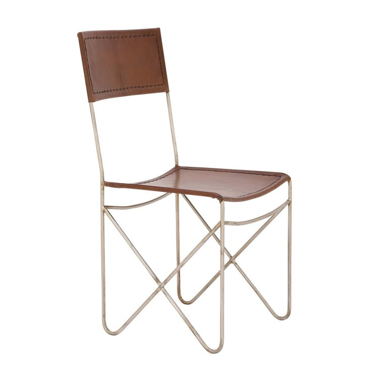 UMA Enterprises Metal/Leather High Back Dining Chair - 80580