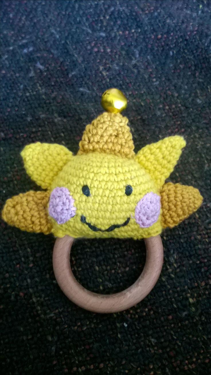 Sluníčko pro miminko, crochet sun   #baby #toys #crochettoys #crochet #crochetsun #sun