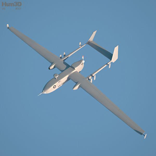 3d Model Of Iai Heron 3d Model Heron Aircraft