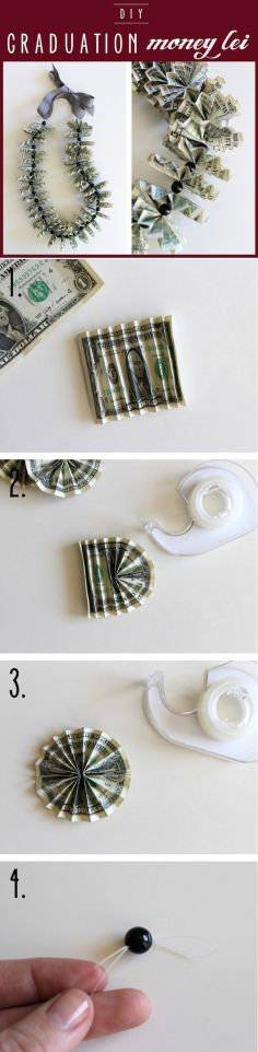 DIY Tutorial: Leis / Graduation Money Lei - Bead&Cord