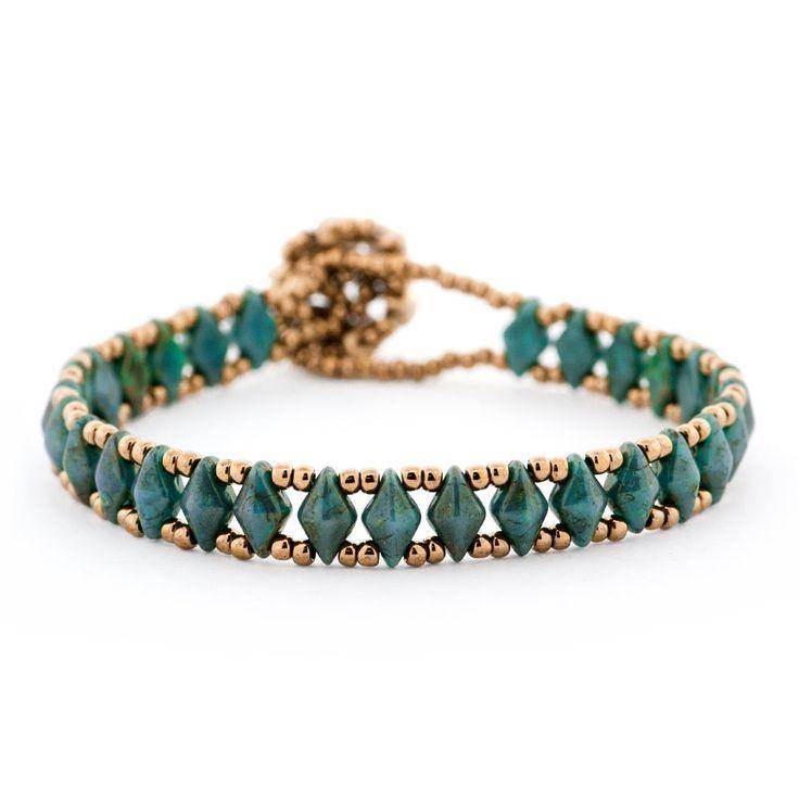 This stunning new bead woven Desert Blossom Bracelet original design by Cecil…