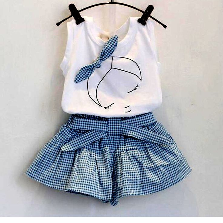 New 2017 brand summer baby girl clothing sets fashion Cotton print shortsleeve T-shirt and skirts girls clothes sport suits