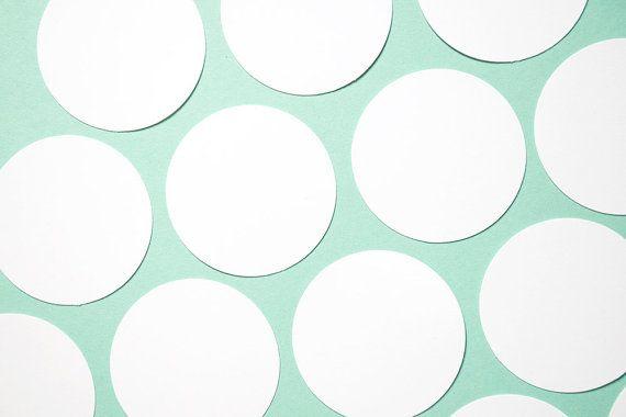 50 CERCHI di Cartoncino bianco. Set di 50 ETICHETTE tonde BIANCHE fustellate a mano. Cerchi n cartoncino per tag, scrapbooking e decorazioni