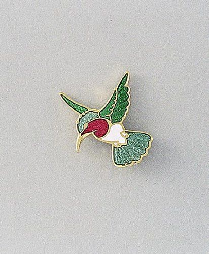 Great Hand Enameled Hummingbird Lapel Pin Or Scatter Pin Daralis. $29.99.  Vitreous Hand Enameled.