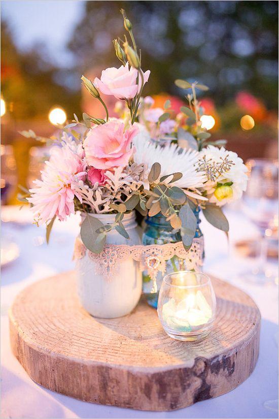 Used Shabby Chic Wedding Decorations : Shabby chic centerpieces on wedding decor
