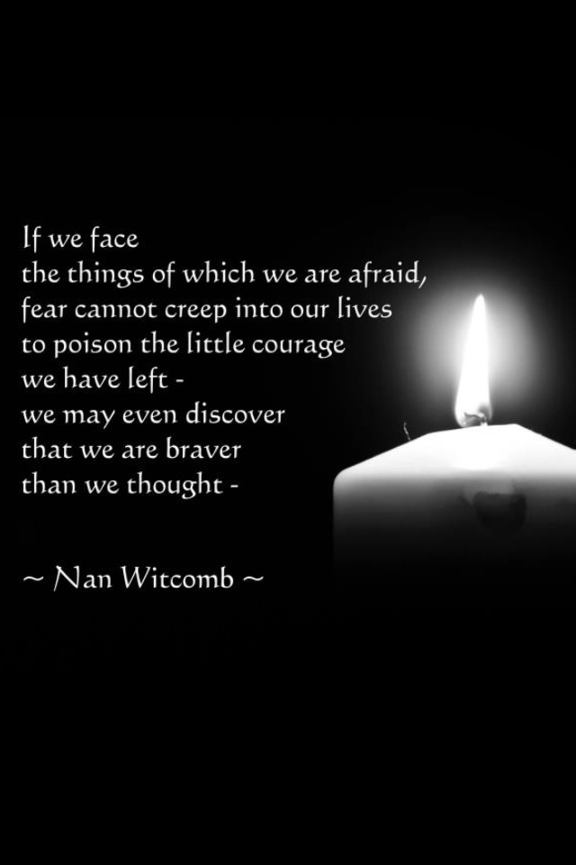 A favourite poem by Nan Witcomb...against a picture of a candle taken by me.