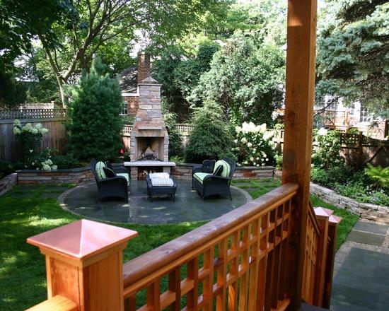Landscape Outdoor Fireplace Design