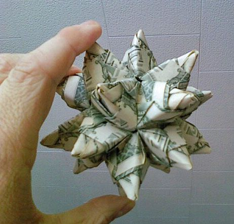 cool money origami star ball