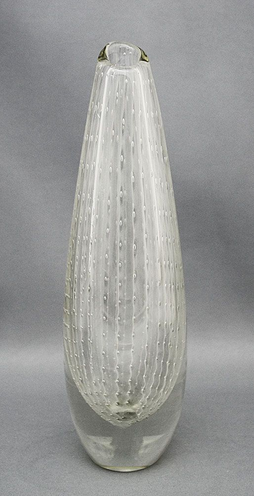 Glass vase. Designed by Olavi Helander for Humppilan lasi