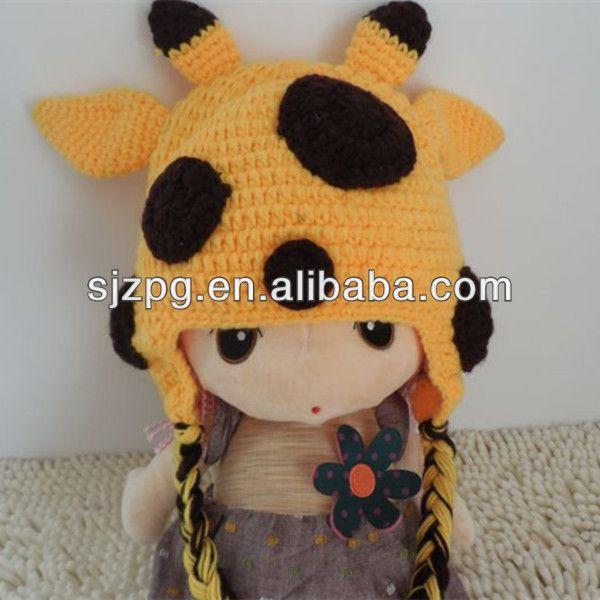 2014 giraffa uncinetto cartone animato per bambini cappello con le orecchie schemi free-Baby cappuccio-Id prodotto:1617857963-italian.alibaba.com
