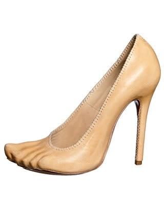 Alexander McQueen Nude embossed heels rare shoes shoe strange fashion heels stilettos