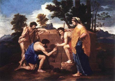 Nicolas Poussin, Et in Arcadia Ego, Les Bergers d'Arcadie, 1637-38, Paris, Musée du Louvre