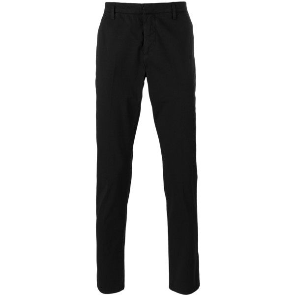 Dondup slim-fit chino trousers (210 CAD) ❤ liked on Polyvore featuring men's fashion, men's clothing, men's pants, men's casual pants, black, mens slim pants, mens slim fit pants, mens chino pants, mens slim fit chino pants and mens chinos pants