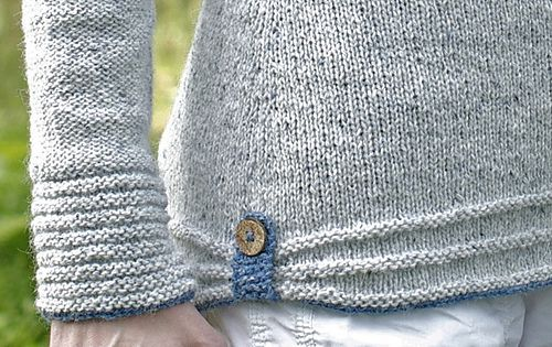10Days by Suvi Simola knitted sweater on ravelry -  love this detail