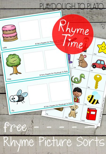 Rhyming Picture Mats - Free Printables To Plato
