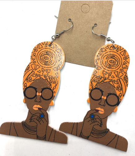 Headwrap Mami earrings (7 colors 2 choose from) | Natural hair | Afrocentric | jewelry | accessories   – Accessories