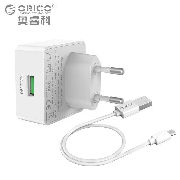 Quick Charge Qc2 0 Orico Rapid Usb Wall Charger With Free Micro Cable For Iphone 7 Samsung Galaxy S6 Usb Wall Charger Phone Accessories Samsung Galaxy S6 Edge