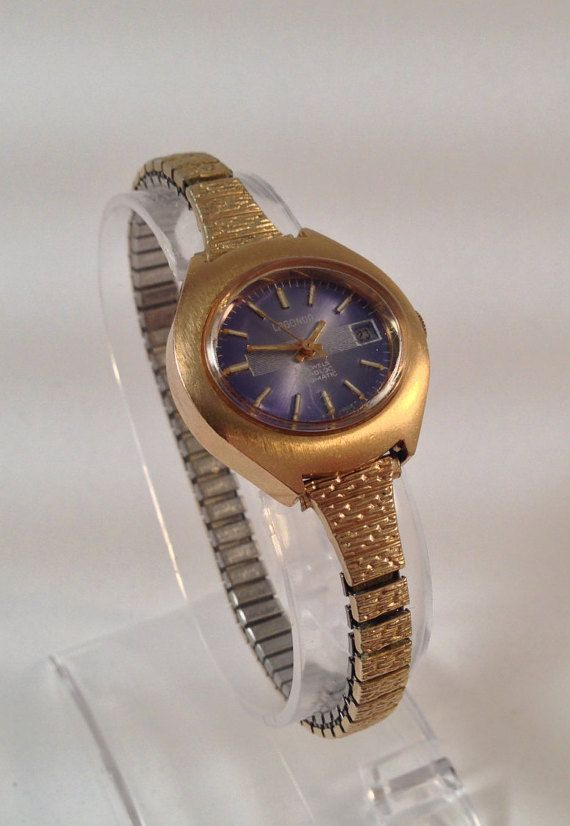 Old Womens Watch 1970s Wrist Watch Gold by StonebrookVintage