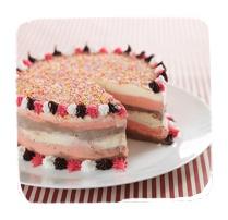 Neapolitan Striped Birthday Cake