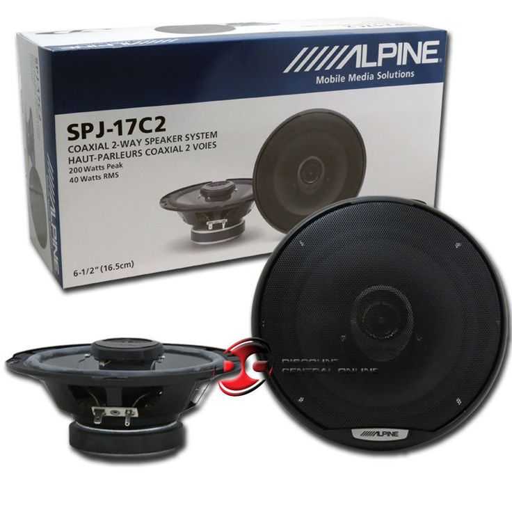 Car Speakers and Speaker Systems: Brand New Alpine 6.5-Inch 6-1/2 2-Way Car Audio Coaxial Speakers (Pair) BUY IT NOW ONLY: $39.99