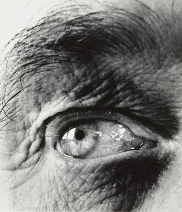 the eye of Henry Moore, sculptor, photograph by Bill Brandt 1960
