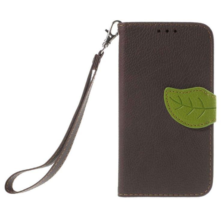 Samsung Galaxy Core Prime Leaf Lommebokveske - Brun