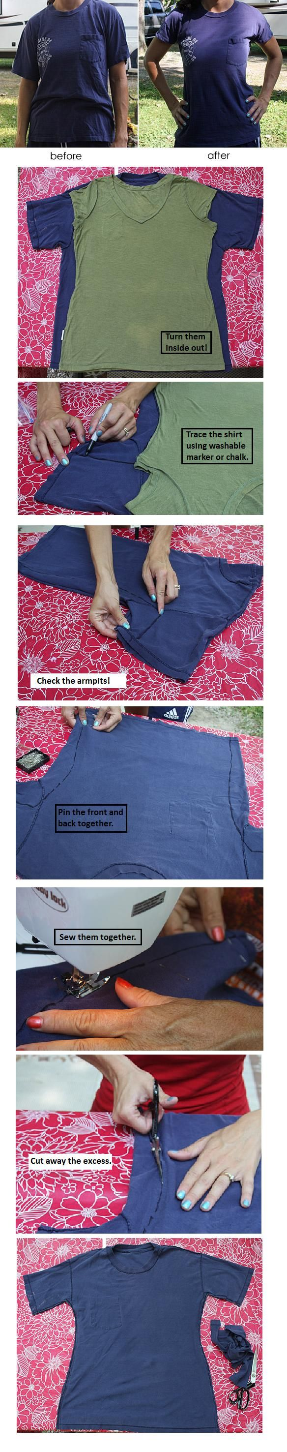 Resizing your clothes! (works for jeans too!)