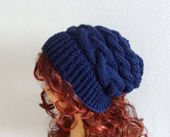 Slouchy Womens Knit Hat red Beanie Womens fashion Winter Hat