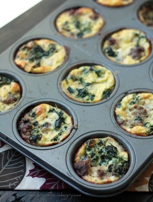 Sausage, Spinach & Feta Frittata – Low Carb and Gluten Free  → from ibreatheimhungry.com