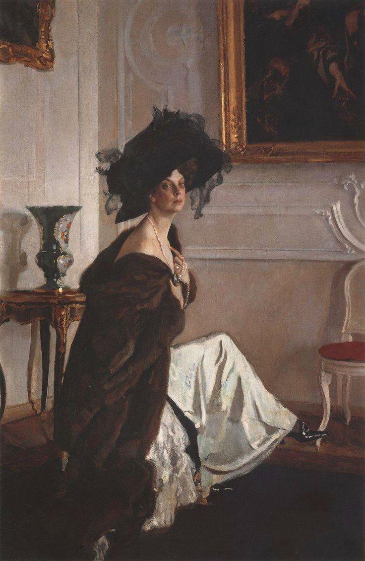 Valentin Serov - Portrait of Princess Olga Orlova (oil on canvas, 1911)