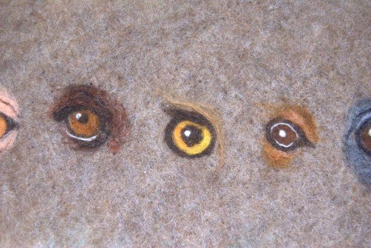 needle felting eyes