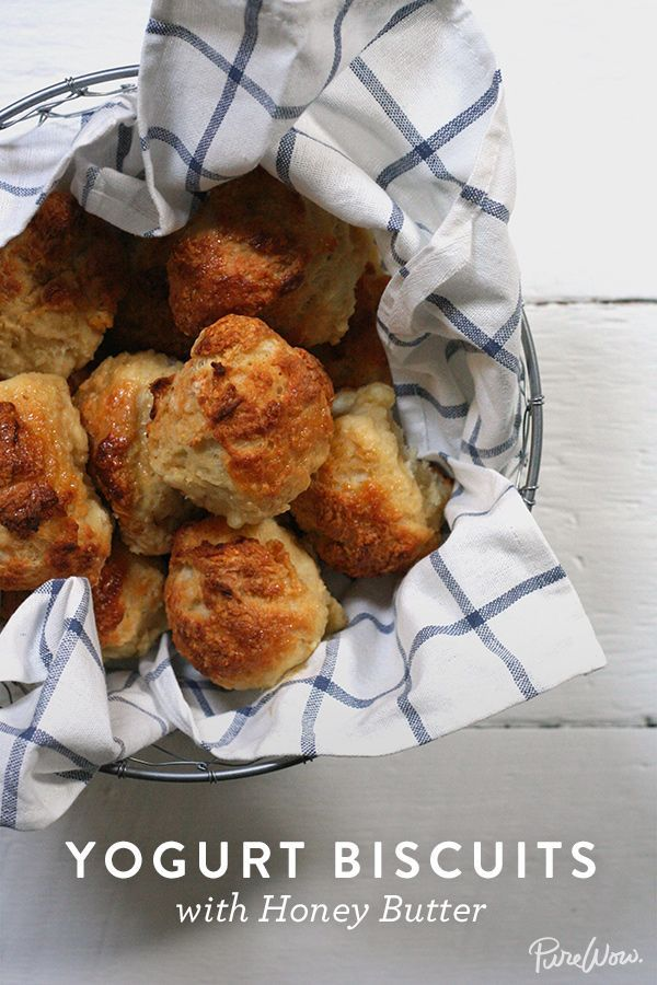 Yogurt Biscuits with Honey Butter via @PureWow via @PureWow