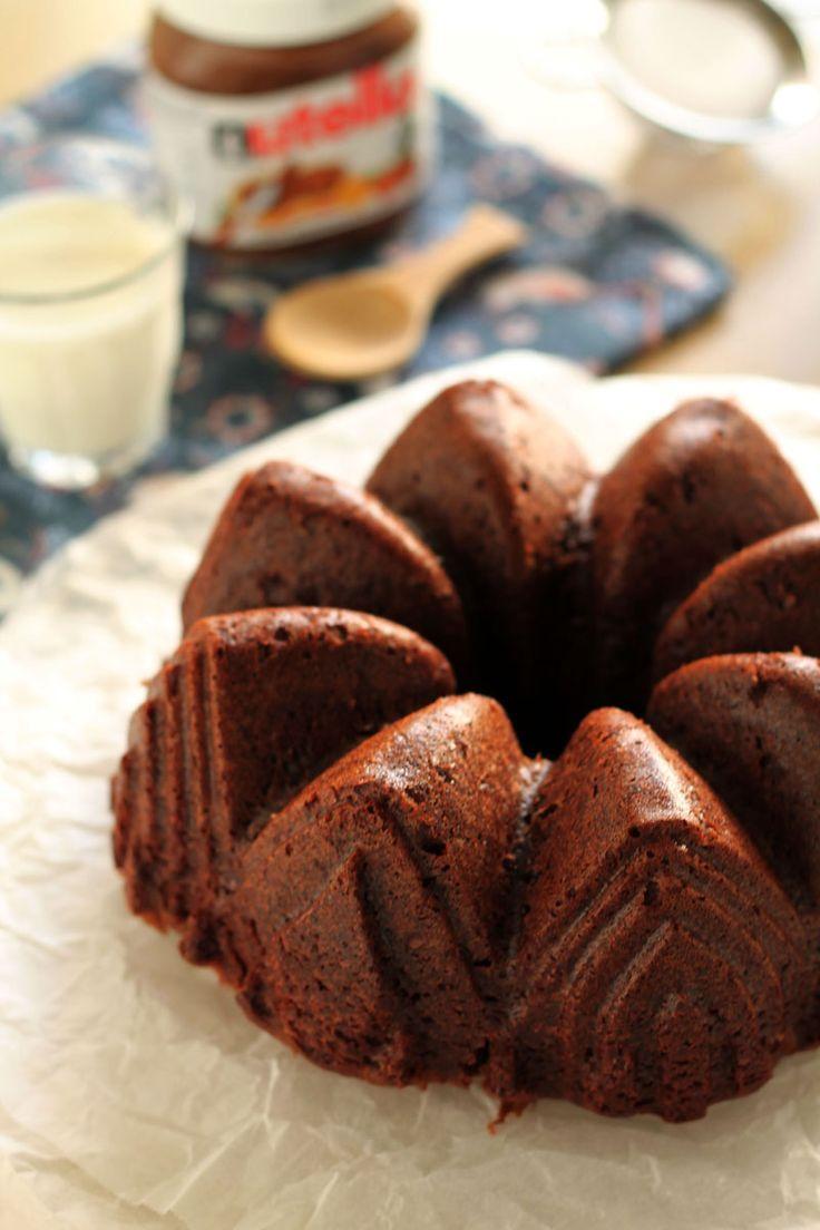 Κέικ με μπανάνα και nutella