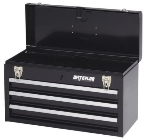 "Portable Tool Box 3 Drawers Chest Cabinet Heavy Duty Cart 20-1/2"" Organize Store #Waterloo"