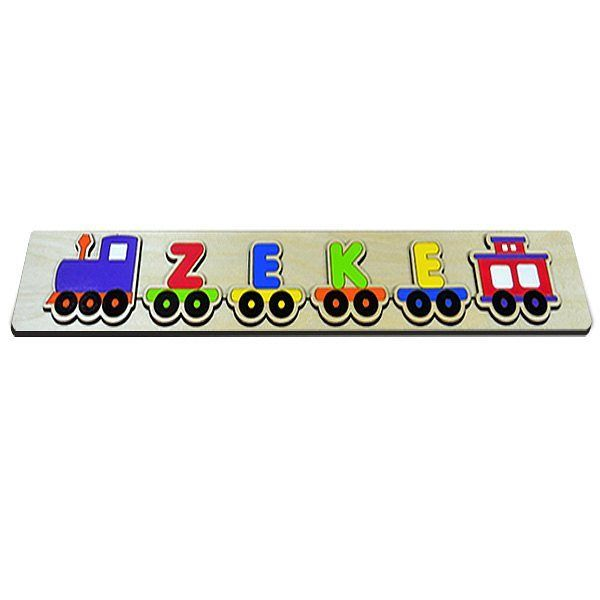 Chugga Chugga Choo Choo!! All aboard the name train express!! Personalize this puzzle with your baby's name! #train #nametrain #babynames #babytrain #lastpieceofthepuzzle #lastpiece #puzzle #babyshowergift #toddlertoys #babygift #babytoys #kidstoys #custommade #customizedgifts #personalizedgifts #handpainted #name #namepuzzle