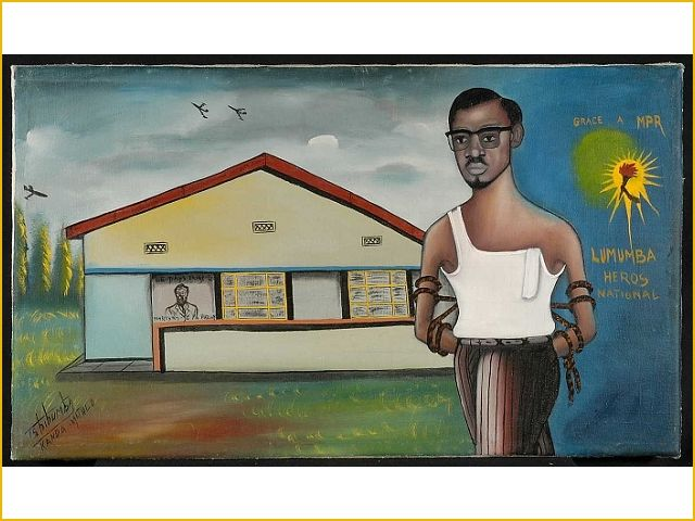 Tshibumba Kanda Matulu, Lumumba wordt tot nationale held uitgeroepen door Mobutu. Collecties online - Tropenmuseum
