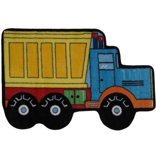 """Dump Truck Area Rug 31""""x47"""" by FindingKing. $64.99. Perfect for use in your bathroom, living room, kid's room or as a door mat. This is a new dump truck high pile area rug. It is made of 100% nylon and measures approximately 31"""" x 47"""" (78.74 x 119.38 cm). Dump Truck High Pile Area Rug 31""""x47""""      This is a new dump truck high pile area rug    Perfect for use in your bathroom, living room, kid's room or as a door mat    It is made of 100% nylon and measures app..."""