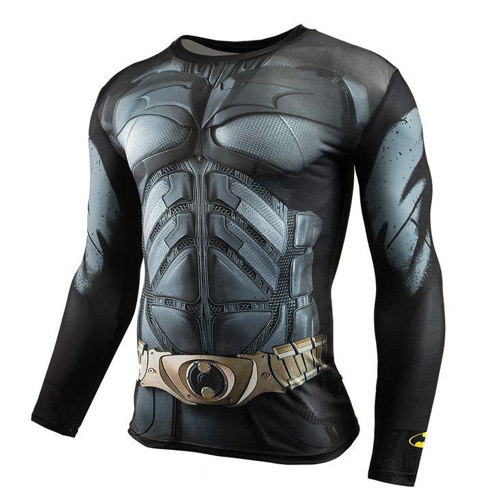 Batman VS Superman T Shirt Tee 3D Printed T-shirts Men Long Raglan sleeve Fitness Cosplay Costume Slim Fit Compression Top Male