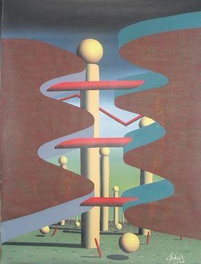 """Saatchi Online Artist A-K-RONA ART; Painting, """"Behind the door"""" #art"""